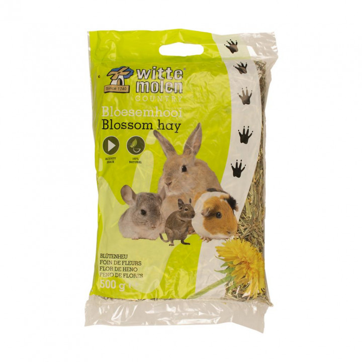 Blossomhay with dandelion for rodents and rabbits 500g