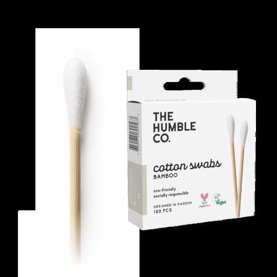 HUMBLE NATURAL COTTON SWABS - WHITE