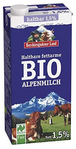BERCHTESGADENER LAND UHT ORGANIC ALPINE MILK 1.5% FAT